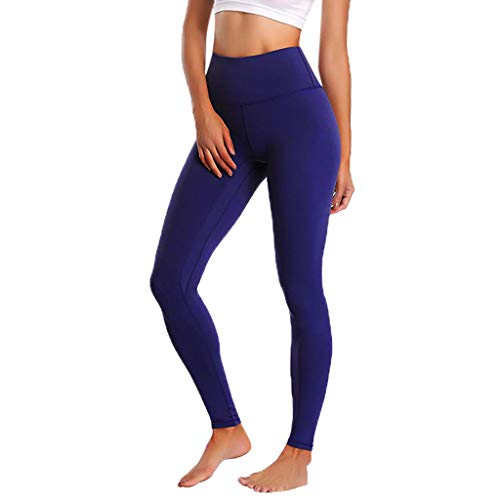 Women's High Waist Yoga Pants,Clearance Ladies Sports Slim Skinny Solid Tummy Control Essential Trousers