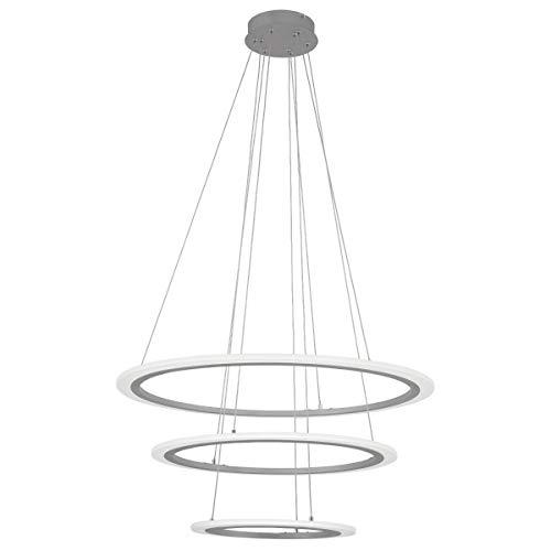 George Kovacs P8143-609-L Discovery Pendant, 3-Light LED, Silver ()