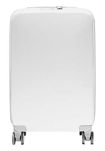 Raden A22 Carry-On Smart Luggage, White Gloss