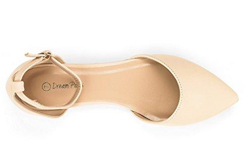 DREAM PAIRS Damen FLAPOINTED-New D'Orsay Ballerinas Schuhe Nackter Nubuk