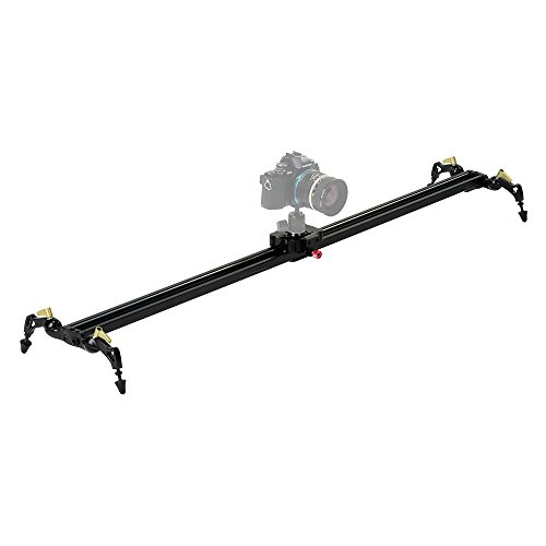 Fotodiox Pro SlideCam 1000 - 39' Video Slider Stabilizer Rail with Ball-Bearing Slide, Adjustable Legs & Case