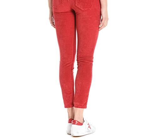 Pinko Pantalón 1j1098y419r58 Algodon Rojo Mujer qnrxwqSY