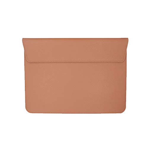 13-13.3 Inch Laptop Sleeve, PU Leather Slim Notebook Sleeve Carrying Case Bag for MacBook, Surface, Most 13-13.3