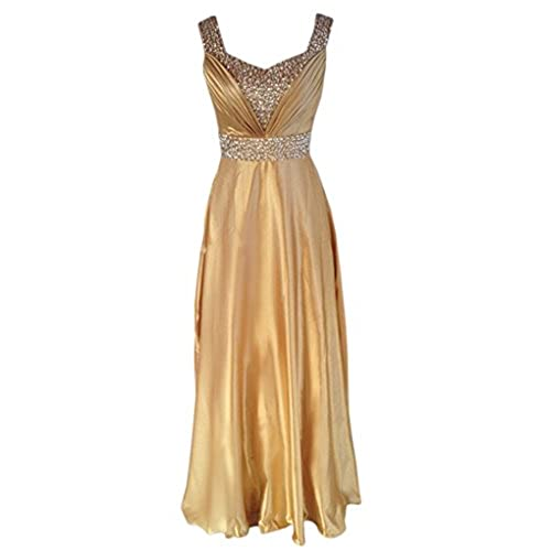 Eyekepper Juniors & Seniors Long Satin Formal Dress Evening Party Gown