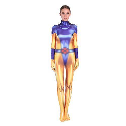 AMOCO Unisex Lycra Spandex X-Men Zentai Halloween Cosplay Costumes Woman Catsuits Adults/Kids 3D Style (Adults-XX-Large(Height:180-190cm)) Purple/Yellow ()