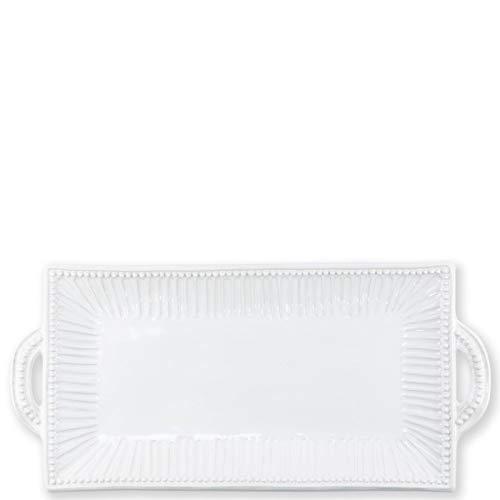 Incanto Stone White Stripe Rectangular Handled Platter