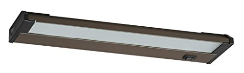 Sconce Light Billiard (AFX Lighting NLL40RB Frosted Glass LED Undercabinet Light Fixture, Oil Rubbed Bronze)