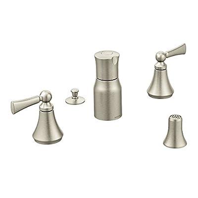 Moen T5245BN Wynford Two-Handle Bidet Faucet, Brushed Nickel