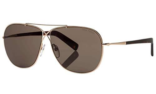 (Tom Ford Aviator Sunglasses - FT0393 28J - Shiny Rose Gold/Roviex (61/10/145))