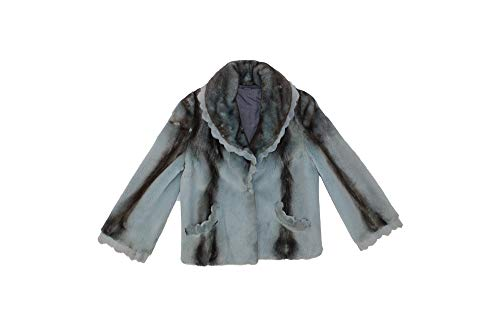 Bergama 611857 New Blue Grey Semi Sheared Mink Fur Jacket Coat Stroller 14