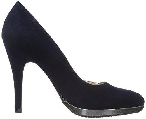 Azul Fumo Iron Tacón Zapatos Suede 477 Peter Punta Con Cerrada Mujer Kaiser Hetlin Para notte De gfw6xvOq