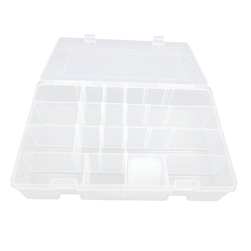 3x BOX315 Clear Beads Tackle Box Fishing Lure Jewelry Nail Art Small Parts Display Plastic transparent Case Storage Organizer Containers kisten boxen boite by Tackle Boxes