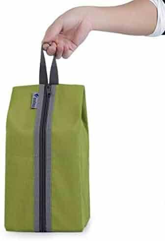 Omkuwl Portable Shoe Box Non-Woven Folding Travel Shoes Storage Shoes Organizer Bags black