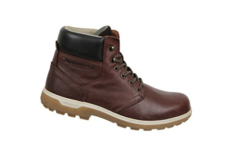 Discovery Expedition Men's Leather High Top Lace Up Hiking Boot Brown Size 10.5