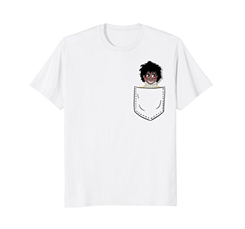 Ventriloquist Dummy in Pocket Funny T-Shirt ()