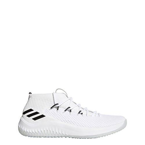 181c96d149e1 Galleon - Adidas Men s Dame 4 Basketball Shoes White Black Size 7.5 M US