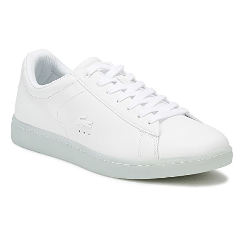 Lacoste Womens White / Light Blue Carnaby Evo 118 3 Sneakers