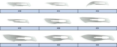 Feather Sterile Disposable Scalpels, #22, (Feather Sterile Disposable Scalpels)