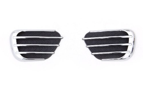 Auto Ventshade 989660 Chrome Predator Side Vents (Trim Simulated Stone)
