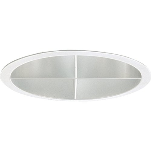 Progress Lighting P8170-21A Clear Alzak Finish Shallow Cross Louver Trim UL/CUL Listed For Damp Locations, Clear ()