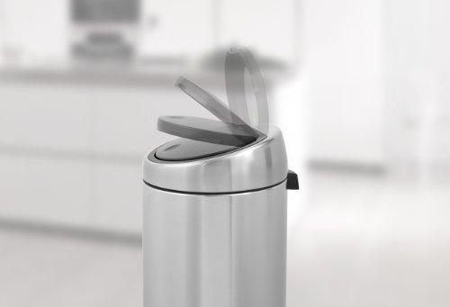 Brabantia 30 Liter Touch Bin.Brabantia 287367 30 Liter Touch Bin Brilliant Steel Buy Online In