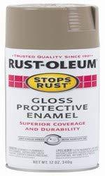 Rust-Oleum 312817 Gloss Protective 12OZ Stone GLS Enamel