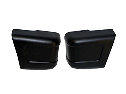 Bundle 1986-1995 Samurai Front Bumper End/Cap Black Set=Lh & Rh (Suzuki Samurai Bumper End)