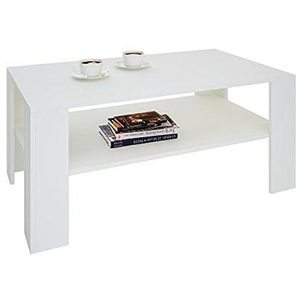 IDIMEX Table Basse de Salon Lorient rectangulaire avec Tablette ...