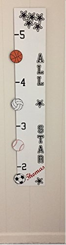 Personalized Wooden Children's Growth Chart Ruler