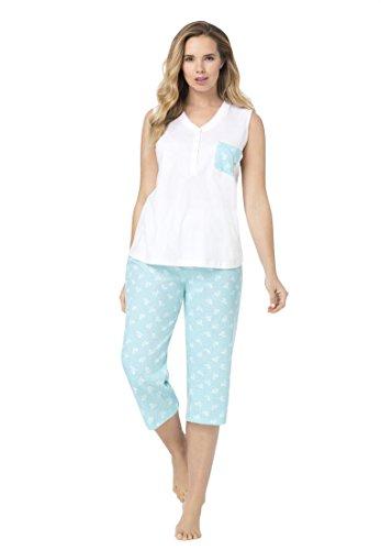 552d6897ef887 Dreams   Co. Women s Plus Size Capri Pajama Set 60%OFF - www ...