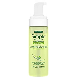 Simple Facial Cleanser, Foaming 5 Oz (Pack of 2)