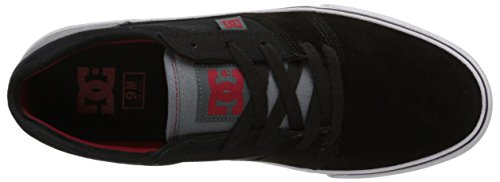 DC Mens Tonik Skate Shoe, Black/Grey/Red 1, 6 M US Black/Grey/Red