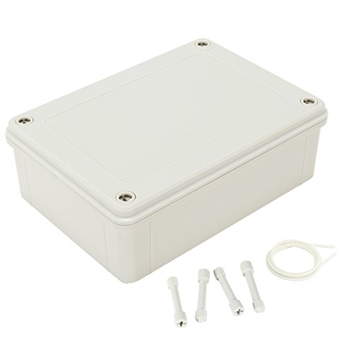 uxcell 7.1x5.12x2.3(180mmx130mmx60mm) ABS Dustproof IP65 Junction Box Universal Electric Project Enclosure