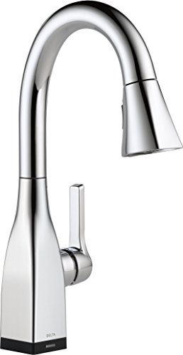 Faucet Mateo Single-Handle Bar-Prep Touch Kitchen Sink Faucet with Pull Down Sprayer, Touch2O Technology and Magnetic Docking Spray Head, Chrome - Delta 9983T-DST
