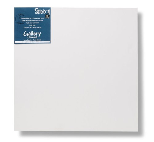 Darice Studio 71 Gallery Canvas - 24'' x 24'' Stretched Canvas for Oil or Acrylic Paints, Acrylic Primed Canvas on a Wood Frame