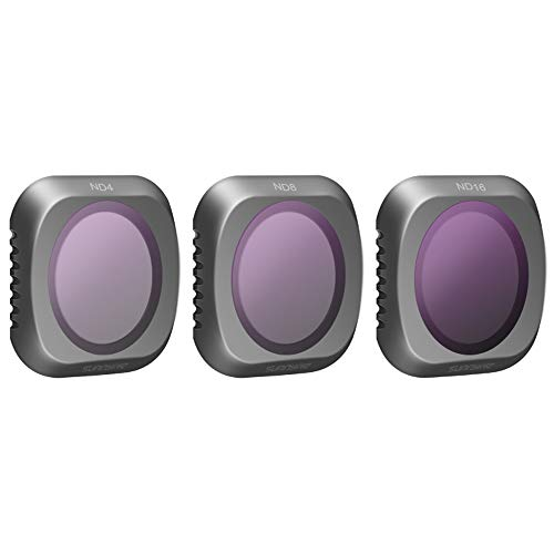 ND4 ND8 ND16 Lens Filters Compatible for DJI Mavic 2 Pro Camera Lens Set, Multi Coated Filters Pack Accessories Works with Gimbal Cover