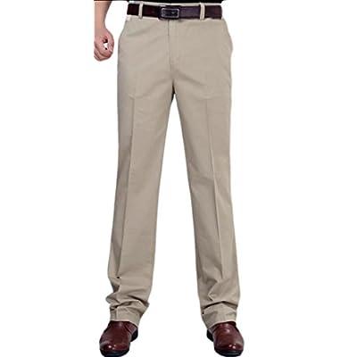 ainr Men Basic Cotton Solid Color Suit Pants hot sale