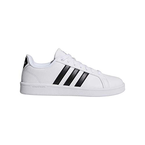 adidas Women's Shoes | Cloudfoam Advantage Cl Sneakers, White/Black/White, (8 M US)