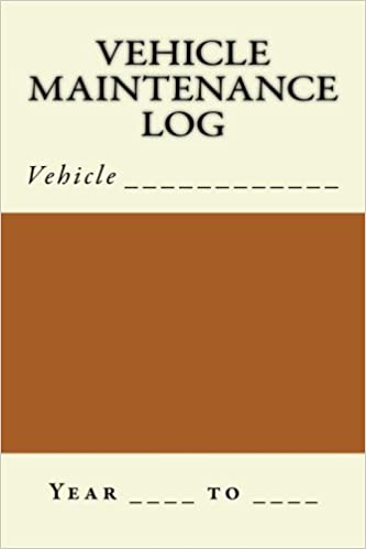 Vehicle Maintenance Log Brown And Cream Cover S M Car Journals