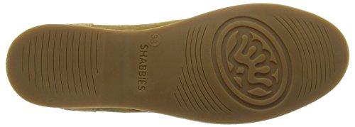 Shabbies Amsterdamlow Norfolk flat sole - Mocasines Mujer Marrón (Noce)