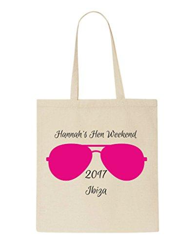 Do Natural Hen Tote Bag Party Design Hen Shopper Bag Personalised Sunglasses Yq4771