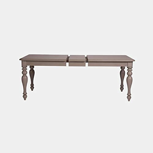 40' Drop Leaf Table - Pine Wood Dining Table with Turned Legs - Dining Table with Removable Leaf - Gray