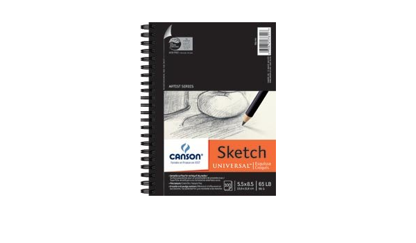 702-191 Pro-Art 5-Inch by 8-Inch Canson Universal Sketch Pad 100-Sheet