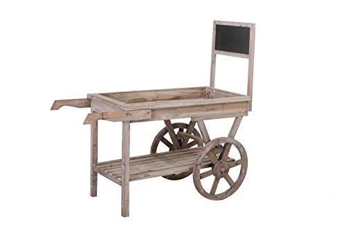 Sunjoy S-GW091PWD Wooden Cart, Brown