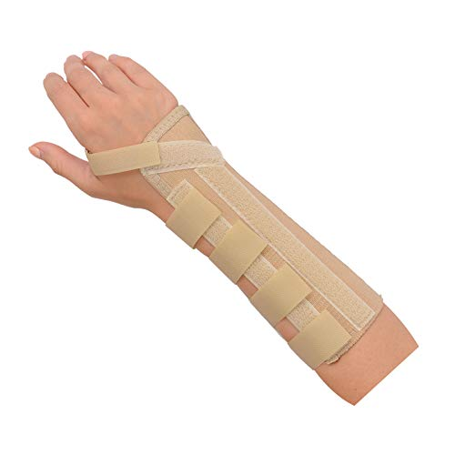 Rolyan AlignRite Wrist Support Without Strap, Long Length, Right, X-Large, Comfortable Stabilization & Support Brace, Ergonomic Thumb Opening for Full Finger Range of Motion, Breathable & Comfy