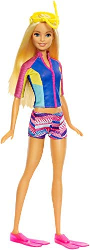 Barbie Doll with Color-Change Top, Puppy Squirt Toy and Dolphin with Sounds  [Amazon Exclusive]