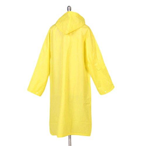 Nanxson(TM) Women's Solid Color Lightweight Raincoat WTW0070 (XL, yellow)