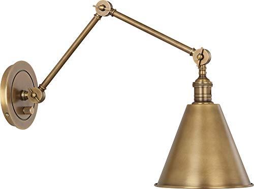 Robert Abbey Alloy Warm Brass Plug-in Swing Arm Wall Lamp ()