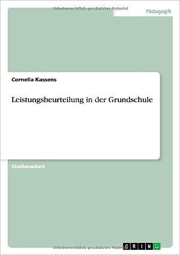 Leistungsbeurteilung in Der Grundschule (German Edition): Cornelia ...
