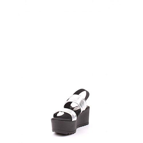Blu Byblos 662600 Keilschuhe Damen Leder Nero/Argento